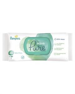 Детские влажные салфетки Aqua Pure 48шт Pampers