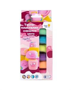 Набор для детской лепки Тесто пластилин Зефирные цвета 6 цветов Genio kids