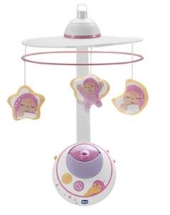 Мобиль для кроватки Волшебные звезды розовый Chicco