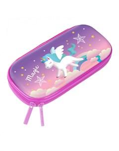 Пенал с 3Д изображением Unicorn Berlingo