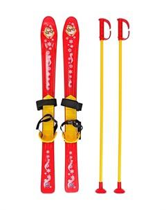 Лыжи детские с палками и крепл Rt