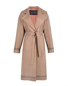 Кожаное пальто oversize Blancha