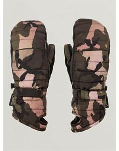 Варежки для сноуборда женские Peep Gore Tex Mitt Faded Army Volcom