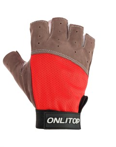Перчатки спортивные размер l цвет красный Onlitop