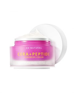 крем для лица с керамидами и пептидами so natural cera plus peptide ceramide cream So natural
