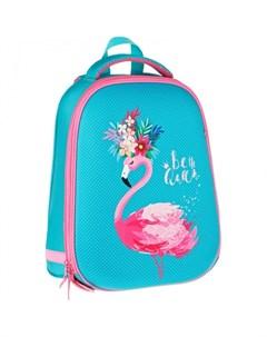 Ранец 2 отделения 1 карман ArtSpace School Friend Flamingo 39x30x18 см Спейс
