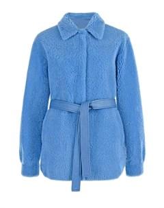 Куртка из овчины с декором на спине Blancha