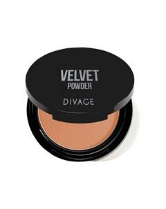 Компактная Пудра Для Лица Velvet 9 Г 5202 Темно бежевый Divage