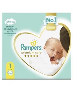Подгузники Premium Care Newborn 2 5 кг 102шт Pampers