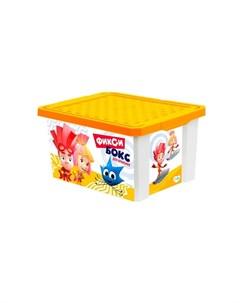 Ящик для хранения игрушек 17 л Фиксики