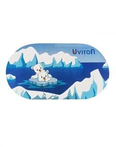 Коврик противоскользящий Медвежата для ванны Uviton