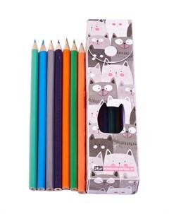 Пенал с карандашами 12 шт Издательство эксмо