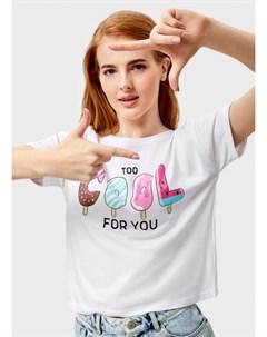 Укороченная футболка с принтом Ostin