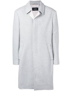 Однобортное пальто в стиле оверсайз Raf simons