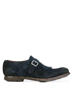 Туфли монки с потертой отделкой Church's