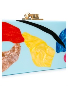 Клатч с абстрактным принтом Edie parker