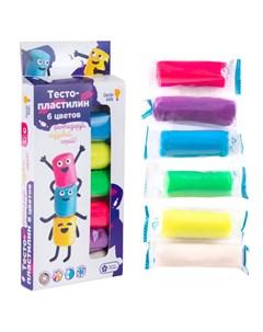 Набор для детской лепки Тесто пластилин 6 цветов Genio kids-art