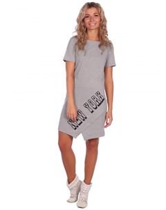Платье трикотажное Нисса серое Инсантрик