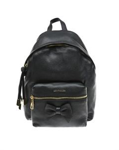 Черный рюкзак с бантом 21х8х27 см детский Monnalisa