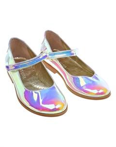 Туфли с перламутровым эффектом детские Monnalisa