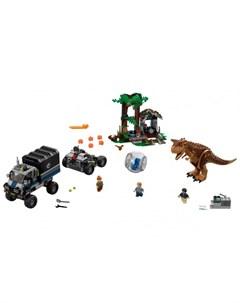 Конструктор Jurassic World 75929 Мир Юрского Периода Побег в гиросфере от карнотавра Lego