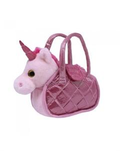 Мягкая игрушка Единорог со светом и музыкой в сумке Пушистые друзья