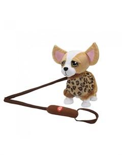 Интерактивная игрушка Собачка на жестком поводке JB500028 Пушистые друзья