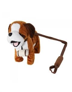 Интерактивная игрушка Собачка на жестком поводке JB500029 Пушистые друзья