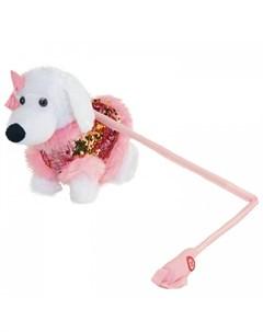 Интерактивная игрушка Собачка на жестком поводке JB0572041 Пушистые друзья
