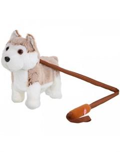 Интерактивная игрушка Собачка на жестком поводке JB0572046 Пушистые друзья