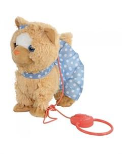 Интерактивная игрушка Кошечка на мягком поводке Пушистые друзья