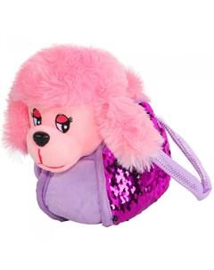 Интерактивная игрушка Собачка в сумке с пайетками Пушистые друзья