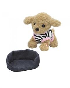 Мягкая игрушка Собачка мягкая на лежанке 23 см Пушистые друзья