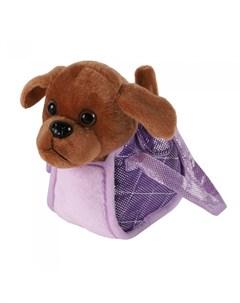 Интерактивная игрушка Собачка мягкая в сумочке JB500026 Пушистые друзья