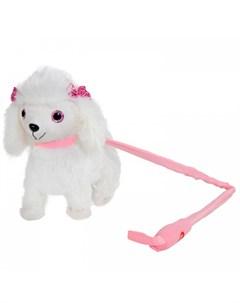 Интерактивная игрушка Собачка на жестком поводке JB0572040 Пушистые друзья