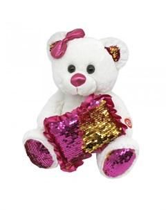 Мягкая игрушка Медвежонок с пайетками 23 см Пушистые друзья