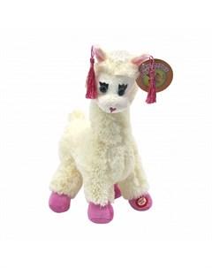 Мягкая игрушка Альпака 30 см Пушистые друзья