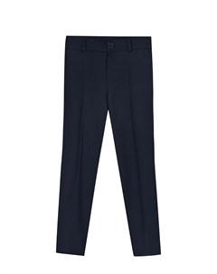Темно синие брюки прямого кроя детское Dan maralex
