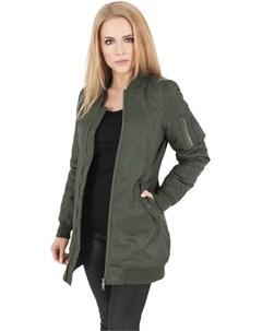 Куртка Ladies Long Bomber Jacket женская Olive XS Urban classics