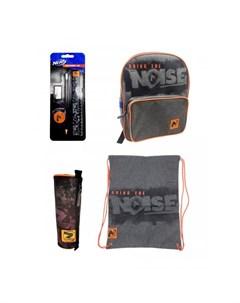 Набор рюкзак мешок для обуви пенал и канцелярские принадлежности Nerf