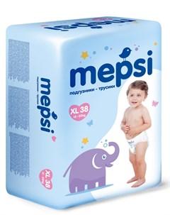 Детские подгузники трусики XL 12 22кг 38шт Mepsi