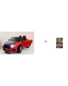 Электромобиль Bentley Supersport JE1155 с термошевроном световозвращающим Cova 55х55 мм Rivertoys