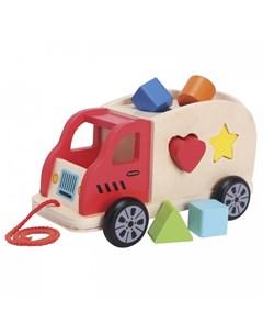 Деревянная игрушка Грузовик сортер New cassic toys