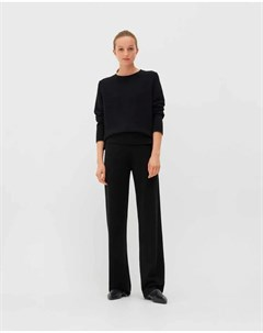 Черные брюки с поясом на кулиске Chinti & parker