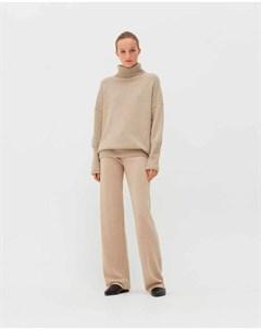 Бежевые брюки с поясом на кулиске Chinti & parker