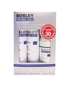 Система синяя для истонченных неокрашенных волос Шампунь кондиционер уход Bosley pro