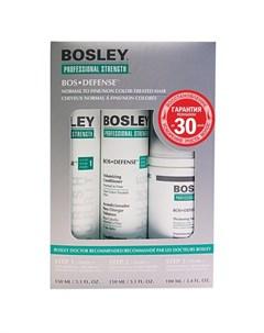 Система зеленая для нормальных тонких неокрашенных волос Шампунь кондиционер уход Bosley pro