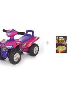 Каталка Super ATV и световозвращающие термошевроны Cova Baby care