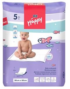 Детские пеленки гигиенические 60х90см 5шт Bella baby happy