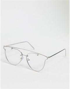 Круглые очки с серебристой оправой Jeepers peepers